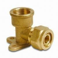 Brass Elbow Seat Pex-Al-Pex Fitting with 1/2, 3/4 and 1-Inch Thread Dimensions Manufactures