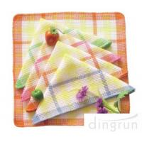 One Side Soft Cotton Kitchen Tea Towels Multi Functional OEM / ODM Available Manufactures