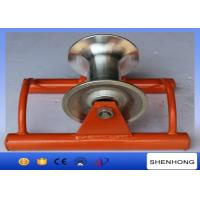 China Abrasion Resistant Cable Pulling Pulley Lightweight Ground Cable Pulling Rollers on sale