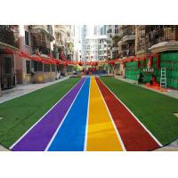 Runing Track Coloured Artificial Grass Carpets For Landscaping Decoration Manufactures