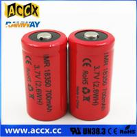 ICR18350 700mAh 3.7V li-ion battery 18350 for led, cordless phone, home application Manufactures