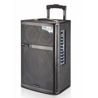 Mic Priority Outdoor Portable Pa Speaker System / Rechargeable Trolley Speaker Manufactures