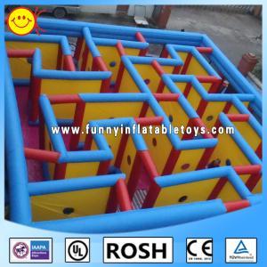 PVC Inflatable Sports Games Protable Inflatable Maze Quadruple Stitching Manufactures