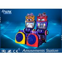 Indoor Driving Arcade Cabinet / Game Machine For Kids 3 Lives Cartoon Style Manufactures