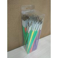 Pony Hair Artist Painting Brushes Set Long Handle With 6 Sizes 12 Pcs Per Size Manufactures