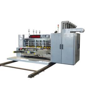 China Paper Glue Flexo Die Cutting Machine / 4 Color Printing Machine Computer Control on sale