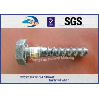 Hot Deep Galvanized Railway Sleeper Screws HEX Head Screw Spike Manufactures