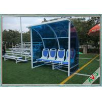 Buy cheap Stadium Mobile Football Field Equipment Soccer Player Team Bench Seats With Shade from wholesalers
