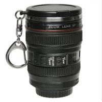 China 2017 popular Mini Plastic Insulated Tumbler - Camera Lens Drink Cup With Keychain & Lid Mini-lens  cup promotional cup on sale