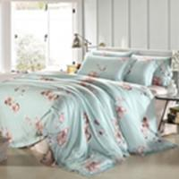 Customized Pieces Home Bedroom Bedding Sets , Flower Printed Bedding Sets Manufactures
