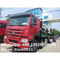 Quality high quality hot sale 8*4 SINOTRUK HOWO 80ton heavy duty truck with crane, best price SINO TRUK HOWO truck mounted crane for sale