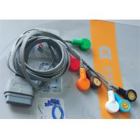 DMS Holter ECG Cable , 7 Leads IEC Snap Electrode Lead Wires DB Pin Connector Manufactures