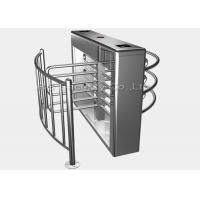 Entrance Security Barrier Turnstile Gate With Card Reader , Visitors Access Control Manufactures