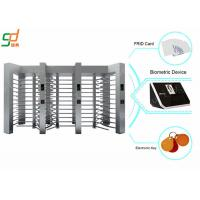 Electronic Full Height Security Turnstiles 120 Degree Rotation Control Pedestian Gate Manufactures