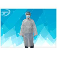 PE Disposable Visitor Coats By Polyethylene Fabric CE Certificated Manufactures