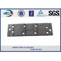 QT500-7 Steel Rail Base Plate , Metal Tie Plate For UIC DIN Standard Railway Manufactures