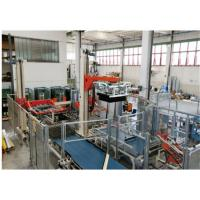 Blue Food Sterilization Equipment Glass Bottles Palletizer 12000 Bottles  / Hour Manufactures