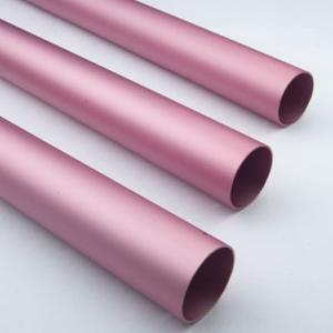Pink Anodized / Oxidation Round Aluminium Tube Oxidation Film Above 10 Um Manufactures