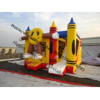 Happy face inflatable bouncer trampoline   Inflatable halloween  Moonwalk combo bouncy castle Manufactures