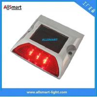 Solar Road Studs ASD-007 3led Single Line Solar Road Cap Lights Solar Road Reflecting Marker Lights for Traffic Warning Manufactures