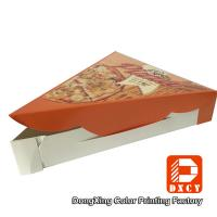 Quality Disposable Unique Individual Pizza Slice Boxes For Pizza Slice Packaging for sale