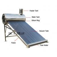 Buy cheap CE certified 150liter non pressure vacuum tube all stainless steel solar water from wholesalers