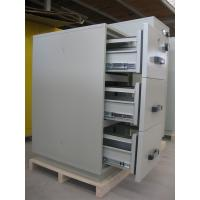 Steel 3 Drawer Fireproof Locking File Cabinet For Paper Documents Manufactures