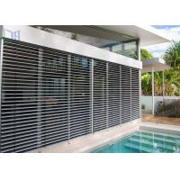 Customized Aluminum Louver Window Robust Construction Vinyl Window Shutters Manufactures