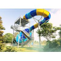 Durable Tornado Water Slide Stainless Steel Fastener 14.3m Platform Height Manufactures