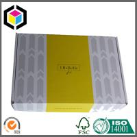 Matte Grey Color Custom Print Corrugated Cardboard Shipping Box for Clothes Manufactures