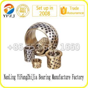 Quality Carbon Graphite Bushing JDB Brass Graphite Sliding Bearing full size for sale