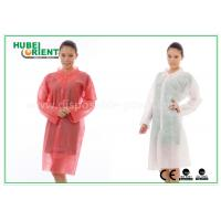 PP Disposable Lab Coats , custom disposable lab gowns Protective with Snap Manufactures