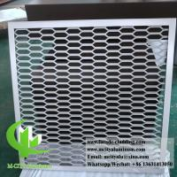 Aluminum expanded panel mesh screen for facade both powder coated Manufactures