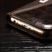 Quality Joint Litchi IPhone Leather Wallet Case For Iphone 6 Plus Paint Oil Business for sale