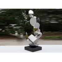 Modern Stainless Steel Sculpture Highly Polished For Pool Decoration Manufactures