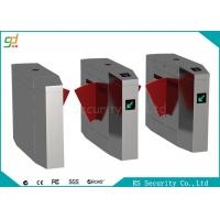 CE Automatic Turnstiles Flap Barrier Gate Stainless Steel Card Reader Turnstile Manufactures