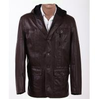 Wholesale Warm and Personality, Size 46, Size 50, Black and Cute Hooded Leather Coat Manufactures