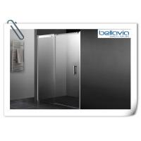 Bathroom Sliding Glass Shower Doors Semi Frameless With Double Chrome Rollers Manufactures