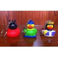 Various Mini Keychains Duck Toy , LED Character Rubber Duck Keychains Ring Manufactures
