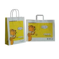 OEM /ODM Printed 120gsm White Kraft Paper Carrier Bag For Children With Cute Pattern Manufactures