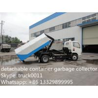 4*2 Dongfeng Hydraulic lifter Garbage Trucks 3tons 5tons 6tons 8tons for sale, dongfeng hook lift garbage truck for sale Manufactures