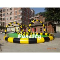 0.6mm PVC Tarpaulin Colorful Inflatable Zorb Track for Grassland Inflatable Sports Games Manufactures