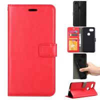 Google Pixel2 Crazy Horse Cell Phone Leather Wallet Case Three Card Slot Tpu Soft Back Cover Manufactures