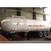 Q235 Carbon Steel 23.5 Ton LPG Tank Trailer 3 Axles With 12 Tires Manufactures
