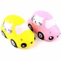 Boys Funny Gift Stress Relieve Kitty Car Educational PU Foam Slow Rising Squishy Toys Manufactures