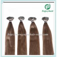 "Pre-Bonded Hair 10""-28"" 100s/pack 6# color Straight Human Hair Brazilian hair extension Manufactures"