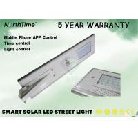30W LiFePO4 LED Solar Powered Street Lights With Outdoor Cctv Camera In 5 Years Warranty Manufactures