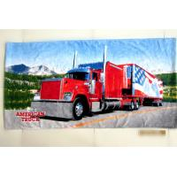 Buy cheap 76*152cm customize printed beach towel  21s cotton  American truck from wholesalers