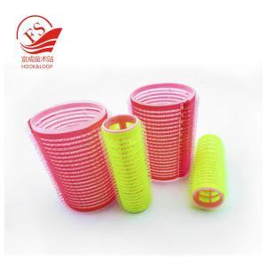 China Eco-Friendly Hook Loop Plastic Hair Rollers / Sponge Hair Rollers On Long Hair on sale
