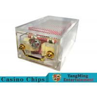Acrylic Casino Card Shoe 8 Deck Large Capacity With Bright Metal Lock Manufactures